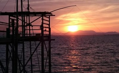 有明海と夕日